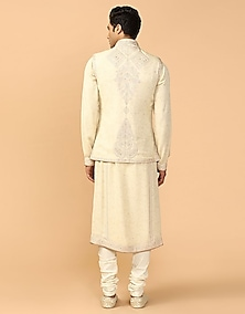 Shell Embroidered & Printed Bundi Jacket by Tarun Tahiliani Men