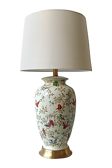 White Ceramic Table Lamp by Theos