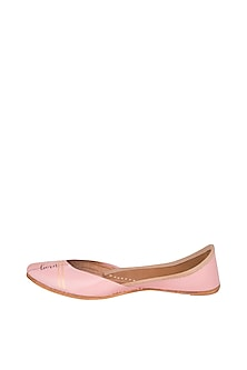 Blush Pink Hand Painted & Handcrafted Juttis by The Haelli