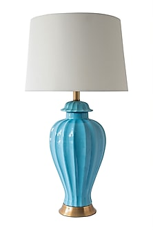 Powder Blue Ceramic Table Lamp by Theos