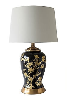 Black & Gold Table Lamp by Theos