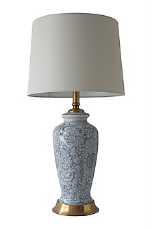 Blue & Grey Table Lamp by Theos