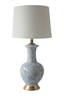 Blue & White Ceramic Table Lamp by Theos