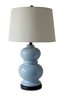 Soft Blue Modern Style Table Lamp by Theos