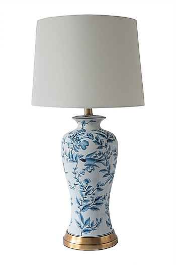 Blue & White Table Lamp by Theos