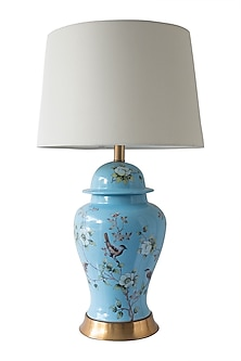 Blue Floral Table Lamp by Theos