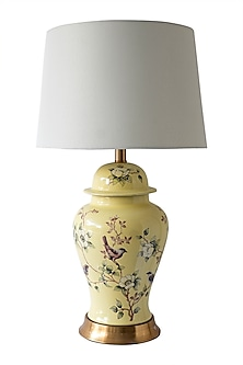 Yellow Floral Table Lamp by Theos