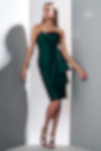 Emerald Green Tube Dress by Tisharth by Shivani