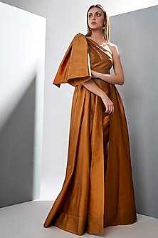 Autumn Maple Layered Gown by Tisharth by Shivani