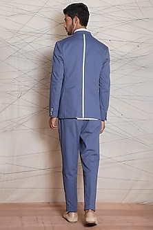 Powder Blue Cotton Jacket by TISA