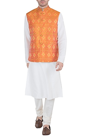 Mango Ikat Nehru Jacket by Tisha Saksena Men