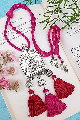 Pink Handcrafted Oxidised Lumba by THE LITTLE SOUVENIR