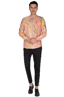 Multi Colored Marble Printed Shirt by The Natty Garb