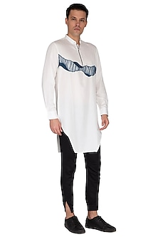 White Embroidered Kurta by The Natty Garb