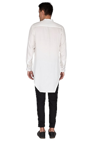 White Embroidered Kurta by The Natty Garb