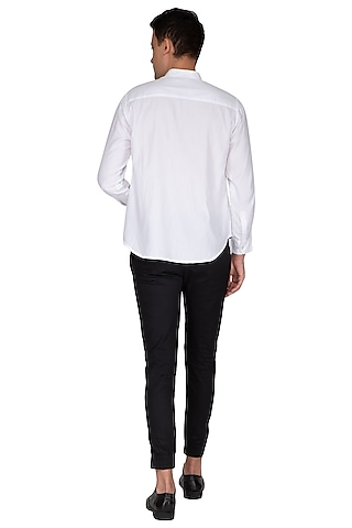White Embroidered Shirt by The Natty Garb