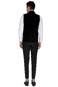 Black Lapel Collared Waistcoat by The Natty Garb