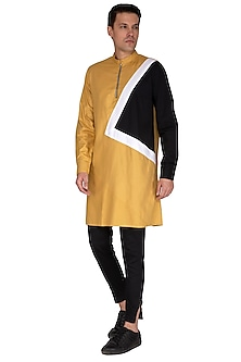 Beige Asymmetric Kurta by The Natty Garb