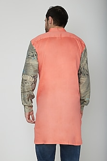 Peach Marble Printed Kurta by The Natty Garb