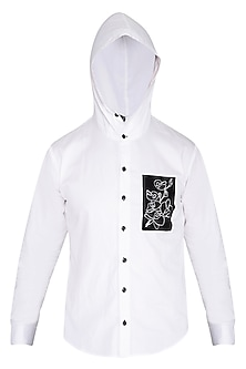 White Orchid Hoodie Shirt by The Natty Garb