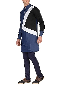 Blue Denim Asymmetrical Kurta by The Natty Garb