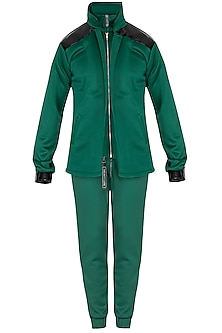 Green Scuba Co-Ordinate Set by The Natty Garb