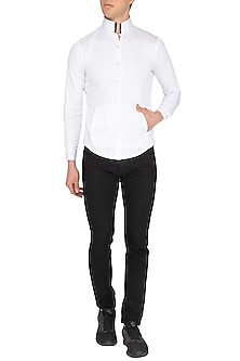 White High Collared Shirt by The Natty Garb