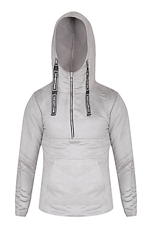 Grey Kangaroo Pocket Hoodie by The Natty Garb