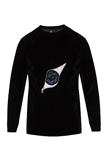 Black 3D Eye Jumper by The Natty Garb
