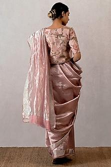Pink Handwoven Saree by TORANI