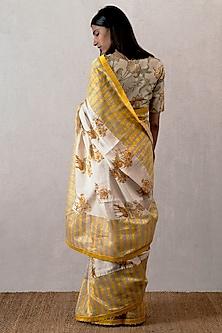 Yellow Digital Printed Blouse by TORANI