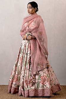 Pink Digital Printed Lehenga Set by TORANI