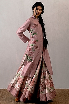 Pink Embroidered Jacket by TORANI