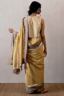 Yellow Dhaari Saree by TORANI