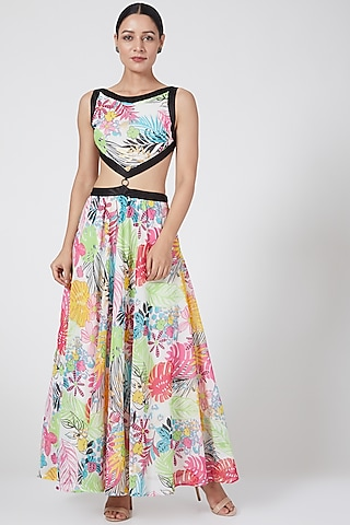 Multi Colored Skirt Set by Three Piece Company