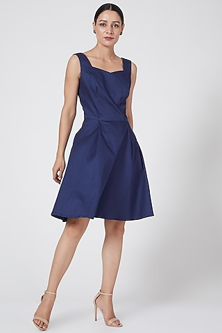 Midnight Blue Strap Dress by Three Piece Company