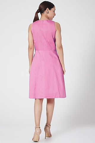 Pink Embroidered Dress by Three Piece Company