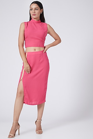 Pink Pencil Skirt by Three Piece Company