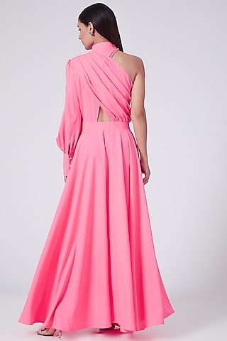Pink One Shoulder Dress by Three Piece Company