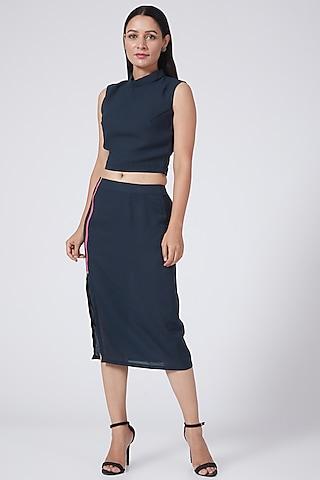 Midnight Blue Pencil Skirt by Three Piece Company
