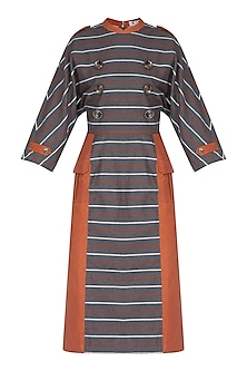 Grey Striped Dress by Three Piece Company