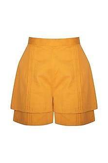 Ochre Tiered Shorts by Three Piece Company