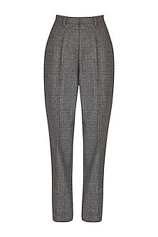 Slate Grey Mid-Waist Trouser Pants by Three Piece Company