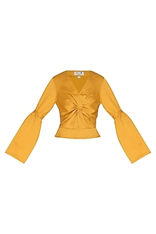 Ochre Twisted Top by Three Piece Company
