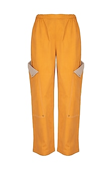 Ochre Pants With Exaggerated Pockets by Three Piece Company