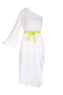 White One Shoulder Dress by Three Piece Company