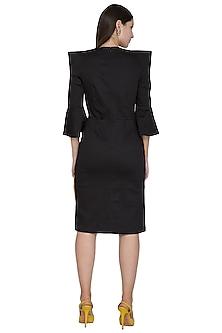 Black Knee-Length Embellished Dress by Three Piece Company
