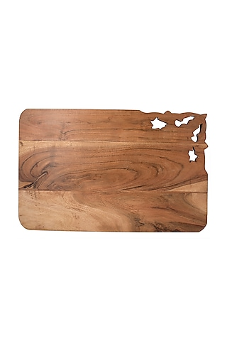 Brown Wooden Multi Purpose Board by The Pitara Project