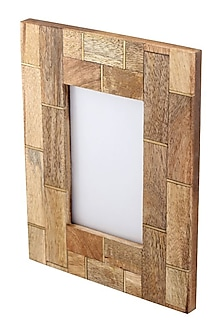 Brown Photo Frame With Brass Inlay by The Pitara Project