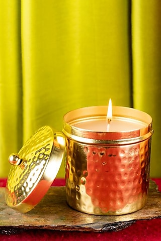 Gold Hammer Scented Candle (Large Jar) by The Pitara Project